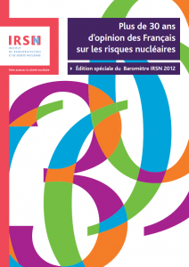 IRSN 30 ans perception risques nucléaires